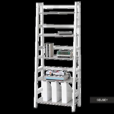 Regał Tower biały - beton designerska drabina