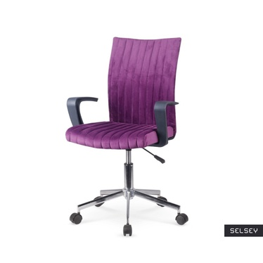 Fotel biurowy Gradil fioletowy