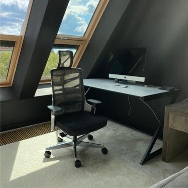 Fotel ergonomiczny Zebalor z zagłówkiem