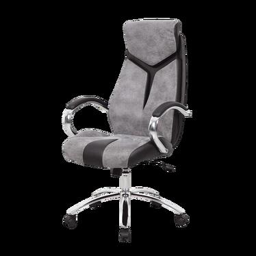Fotel biurowy Miquel szaro - czarny