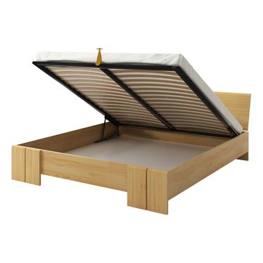 Łóżko z drewna sosnowego Loke z pojemnikiem na pościel