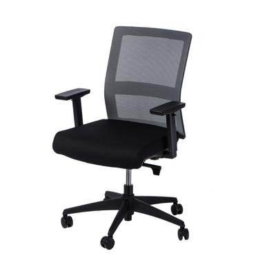 Fotel biurowy Press szaro-czarny z obrotowym siedziskiem