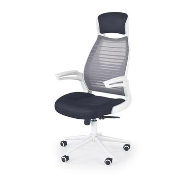 Fotel biurowy Flix biało-czarny