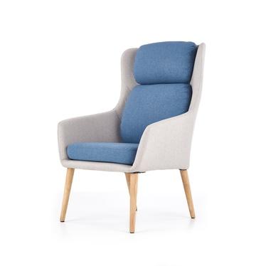 Fotel Serra popielato - niebieski