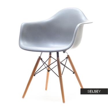 Krzesło MPA wood szare na drewnianych nogach