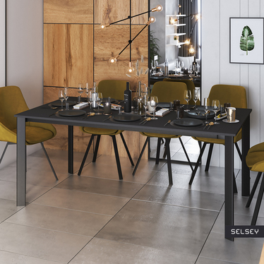 Stół rozkładany Kayko 180-260x90 grafit