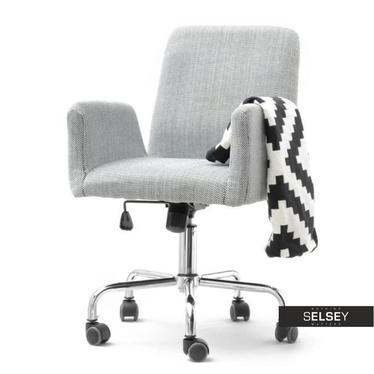 Fotel biurowy Lomax biało - czarny z tkaniny obrotowy