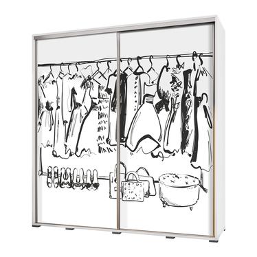 Szafa Wenecja 205 cm Rysunkowa garderoba