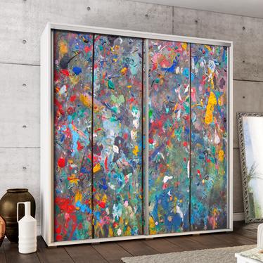 Szafa Wenecja 205 cm Olejna abstrakcja