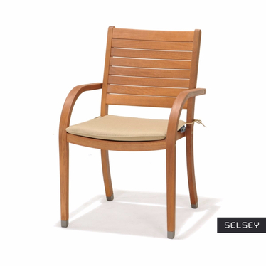 Krzesło z podłokietnikami z poduszką Catalina