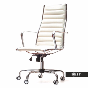 Fotel biurowy Berlin biały inspirowany Eames Eiffel