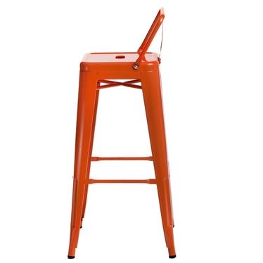 Hoker Parissca 75 cm z niskim oparciem pomarańczowy