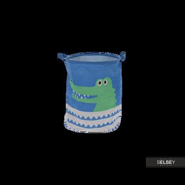Kosz na pranie Krokodyl doskonały na zabawki