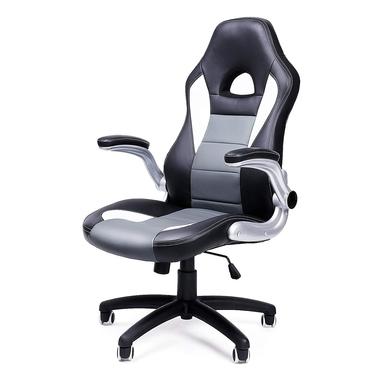 Fotel biurowy Hood czarny z szarymi i białymi wstawkami