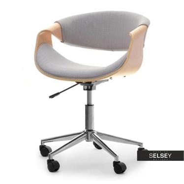 Fotel biurowy Rapid dąb-szary na stalowej nodze