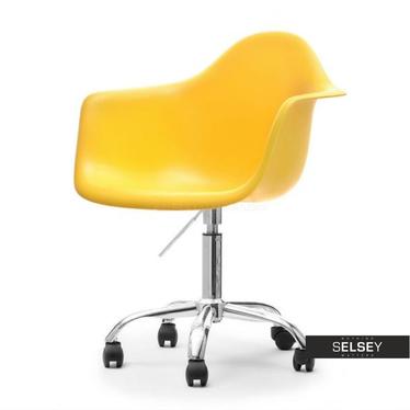Fotel biurowy MPA move żółty z regulacją