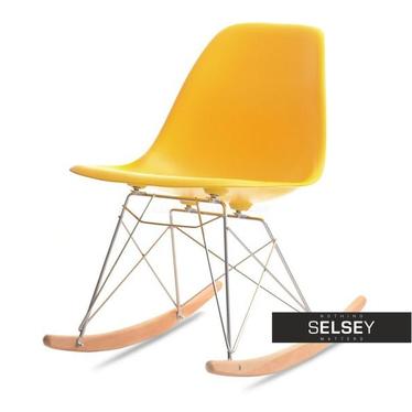 Krzesło bujane MPC roc żółte do nowoczesnego pokoju