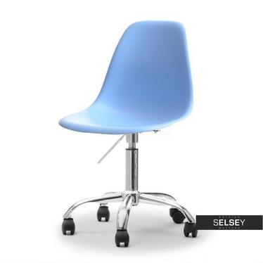 Fotel biurowy MPC move niebieski - chrom na kółkach