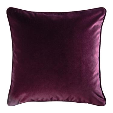 Poduszka dekoracyjna Elatus w tkaninie PET FRIENDLY 45x45 cm oberżyna