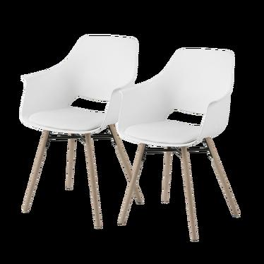 Zestaw dwóch krzeseł Berchez białe