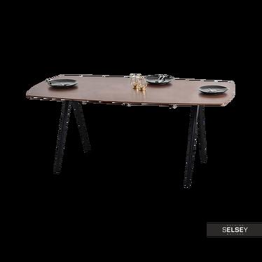 Stół Isola orzech 180x90 cm w stylu minimalistycznym