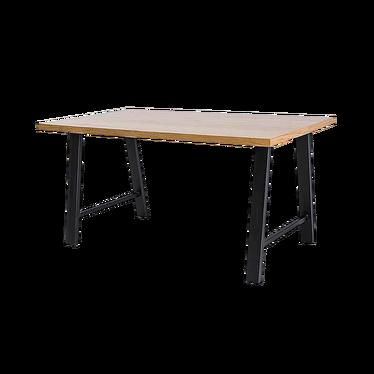 Stół Vedia lity dąb/czarny 150x90 cm