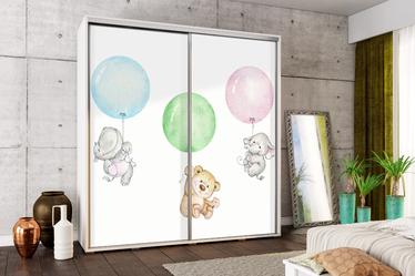 Szafa Wenecja 205 cm Misie z balonami