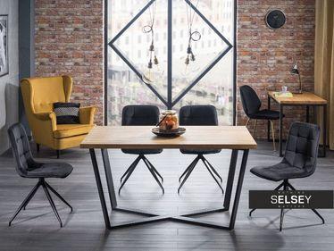 Stół Selfoss 180x90 cm z fornirem dębowym