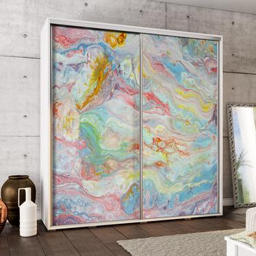 Szafa Wenecja 205 cm Tęczowy marmur