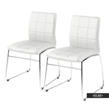 Zestaw dwóch krzeseł Kopito białe