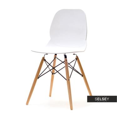 Krzesło Leaf wood białe