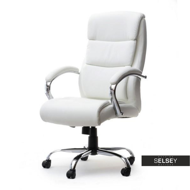 Fotel biurowy Luks biały obrotowy
