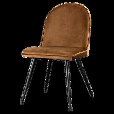 Krzesło Tony miedziane na czarnych nogach ze stali
