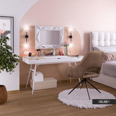 Biurko-toaletka Boden białe w skandynawskim stylu