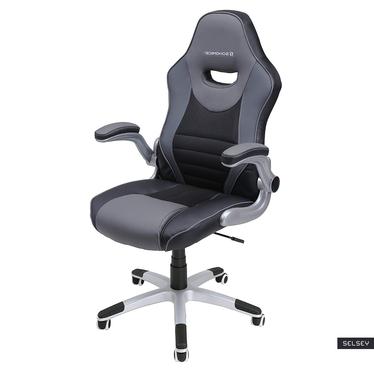 Fotel biurowy Cheryl czarny z szarymi wstawkami