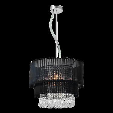 Lampa wisząca Bennett czarna średnica 45 cm