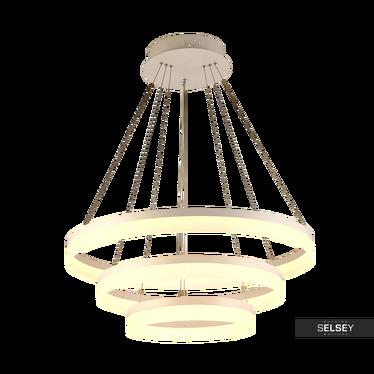 Lampa wisząca Round biała średnica 60 cm x3