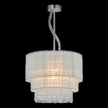 Lampa wisząca Bennett biała średnica 45 cm