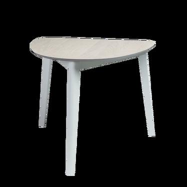 Stół Nylar 90x80 cm dąb bielony z białą podstawą