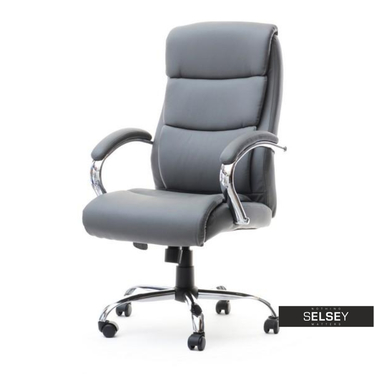 Fotel biurowy Luks szary obrotowy