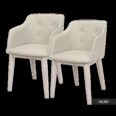 Zestaw dwóch krzeseł Amati kremowe
