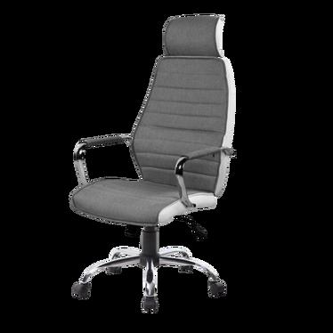 Fotel biurowy Serrato szaro - biały