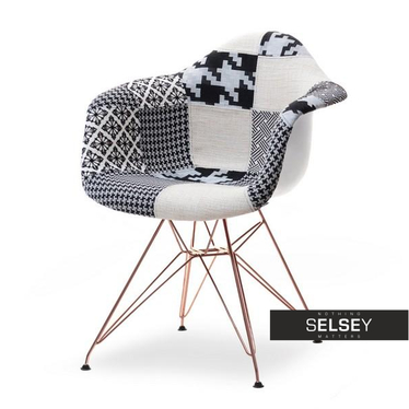 Krzesło MPA rod tap patchwork 2 - miedź