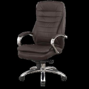 Fotel biurowy Arbeca brązowy