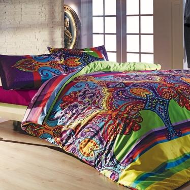 Komplet pościeli Rainbow Boho 160x220 cm z poszewką na poduszkę 50x70 cm i z prześcieradłem