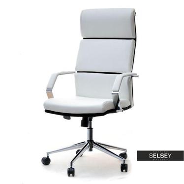 Fotel biurowy Bond biało - czarny z regulacją wysokości