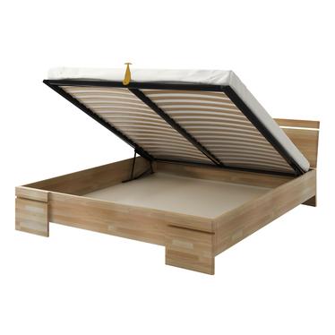 Łóżko z drewna bukowego Lopar z pojemnikiem na pościel