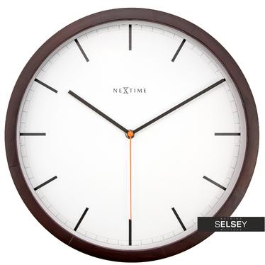 Zegar drewniany Company Wood średnica 35 cm