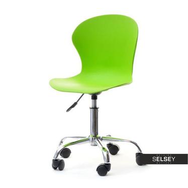 Fotel biurowy Mobi zielony dziecięcy na kółkach