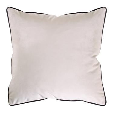 Poduszka dekoracyjna Sylvanca w tkaninie EASY CLEAN 45x45 cm kremowa z kedrą